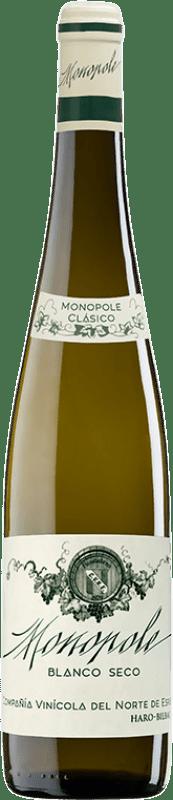 24,95 € Envio grátis | Vinho branco Norte de España - CVNE Monopole Clásico Crianza D.O.Ca. Rioja La Rioja Espanha Viura, Palomino Fino Garrafa 75 cl