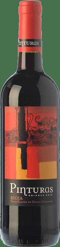 7,95 € Envío gratis | Vino tinto Obalo Pinturas Crianza D.O.Ca. Rioja La Rioja España Tempranillo Botella 75 cl