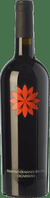 8,95 € Envío gratis | Vino tinto Ognissole D.O.C. Primitivo di Manduria Puglia Italia Primitivo Botella 75 cl