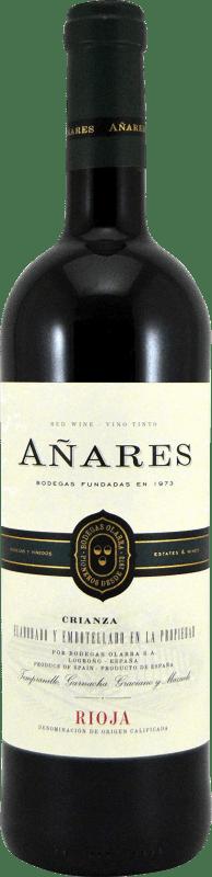 5,95 € Free Shipping | Red wine Olarra Añares Crianza D.O.Ca. Rioja The Rioja Spain Tempranillo, Grenache, Graciano, Mazuelo Bottle 75 cl
