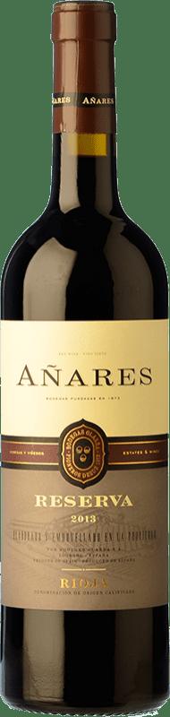 12,95 € Free Shipping | Red wine Olarra Añares Reserva D.O.Ca. Rioja The Rioja Spain Tempranillo, Grenache, Graciano, Mazuelo Bottle 75 cl