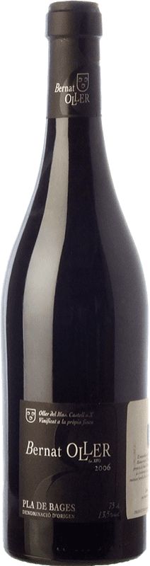 13,95 € Free Shipping | Red wine Oller del Mas Bernat Crianza D.O. Pla de Bages Catalonia Spain Merlot, Picapoll Black Bottle 75 cl