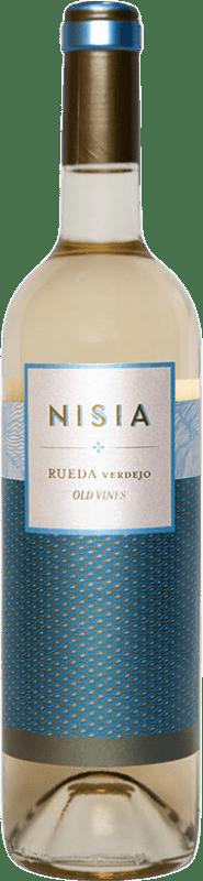 9,95 € Envío gratis | Vino blanco Ordóñez Nisia Crianza D.O. Rueda Castilla y León España Verdejo Botella 75 cl