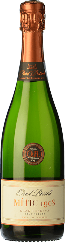16,95 € Free Shipping | White sparkling Oriol Rossell Brut Nature Gran Reserva D.O. Cava Catalonia Spain Macabeo, Xarel·lo Bottle 75 cl