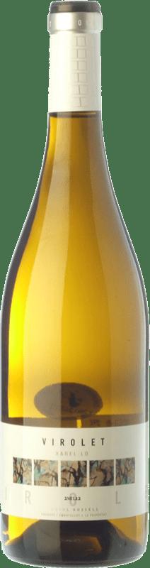 6,95 € Envío gratis | Vino blanco Oriol Rossell Virolet D.O. Penedès Cataluña España Xarel·lo Botella 75 cl