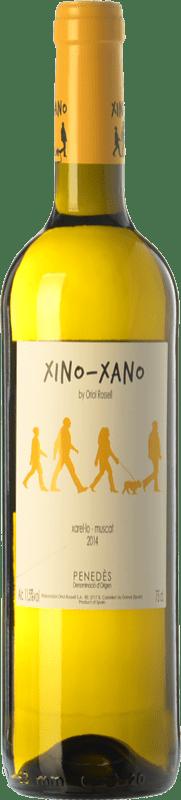 7,95 € Envío gratis | Vino blanco Oriol Rossell Xino-Xano Blanc D.O. Penedès Cataluña España Moscatel, Xarel·lo Botella 75 cl