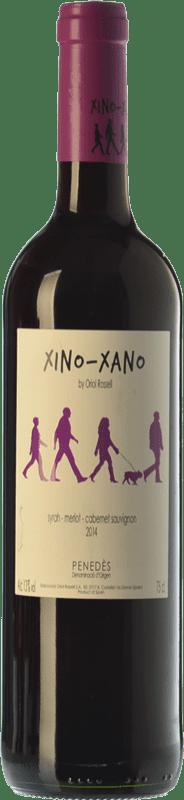 5,95 € Envío gratis | Vino tinto Oriol Rossell Xino-Xano Negre Joven D.O. Penedès Cataluña España Merlot, Syrah, Cabernet Sauvignon Botella 75 cl
