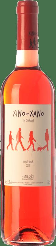 7,95 € Free Shipping | Rosé wine Oriol Rossell Xino-Xano Rosat Joven D.O. Penedès Catalonia Spain Merlot, Syrah Bottle 75 cl