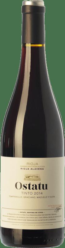 5,95 € Envío gratis | Vino tinto Ostatu Cosecha Joven D.O.Ca. Rioja La Rioja España Tempranillo, Graciano Botella 75 cl