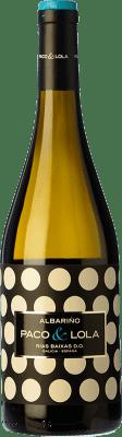 9,95 € Kostenloser Versand | Weißwein Paco & Lola D.O. Rías Baixas Galizien Spanien Albariño Flasche 75 cl