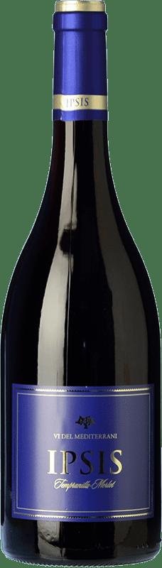 5,95 € Free Shipping | Red wine Padró Ipsis Negre Tempranillo-Merlot Joven D.O. Tarragona Catalonia Spain Tempranillo, Merlot Bottle 75 cl