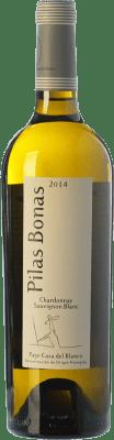 6,95 € Free Shipping | White wine Casa del Blanco Pilas Bonas D.O.P. Vino de Pago Casa del Blanco Castilla la Mancha Spain Chardonnay, Sauvignon White Bottle 75 cl
