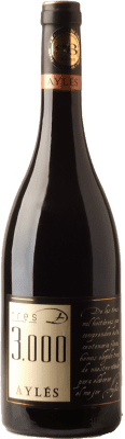 31,95 € Free Shipping | Red wine Pago de Aylés Tres de 3000 Crianza D.O. Cariñena Aragon Spain Merlot, Grenache, Cabernet Sauvignon Bottle 75 cl