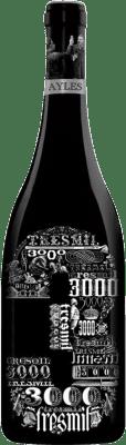 31,95 € Envoi gratuit | Vin rouge Pago de Aylés Tres de 3000 Crianza D.O. Cariñena Aragon Espagne Merlot, Grenache, Cabernet Sauvignon Bouteille 75 cl