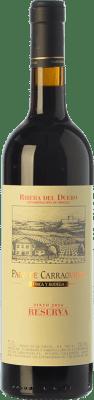43,95 € Envío gratis | Vino tinto Pago de Carraovejas Reserva D.O. Ribera del Duero Castilla y León España Tempranillo, Merlot, Cabernet Sauvignon Botella 75 cl