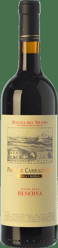 49,95 € Envío gratis | Vino tinto Pago de Carraovejas Reserva D.O. Ribera del Duero Castilla y León España Tempranillo, Merlot, Cabernet Sauvignon Botella 75 cl