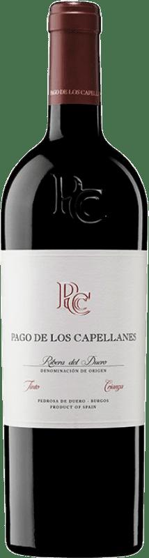 39,95 € Kostenloser Versand | Rotwein Pago de los Capellanes Crianza D.O. Ribera del Duero Kastilien und León Spanien Tempranillo, Cabernet Sauvignon Magnum-Flasche 1,5 L