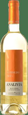 5,95 € Kostenloser Versand | Weißwein Pagos del Rey Analivia Joven D.O. Rueda Kastilien und León Spanien Verdejo Flasche 75 cl