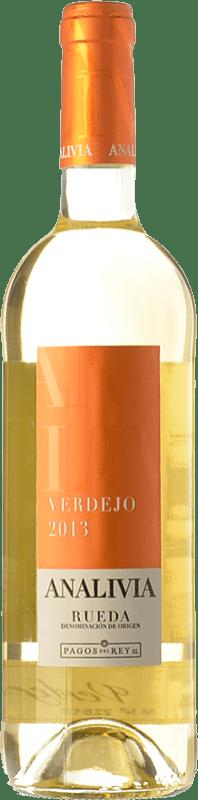 7,95 € Free Shipping | White wine Pagos del Rey Analivia Joven D.O. Rueda Castilla y León Spain Verdejo Bottle 75 cl