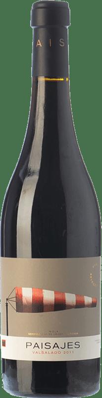 16,95 € Free Shipping | Red wine Paisajes Valsalado Crianza D.O.Ca. Rioja The Rioja Spain Tempranillo, Grenache, Graciano, Mazuelo Bottle 75 cl