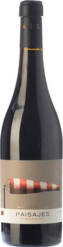 16,95 € Envío gratis | Vino tinto Paisajes Valsalado Crianza D.O.Ca. Rioja La Rioja España Tempranillo, Garnacha, Graciano, Mazuelo Botella 75 cl