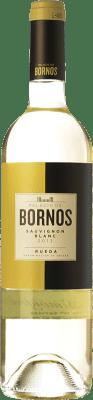 7,95 € Envío gratis | Vino blanco Palacio de Bornos D.O. Rueda Castilla y León España Sauvignon Blanca Botella 75 cl