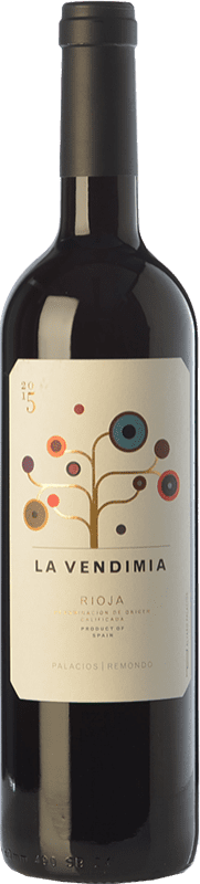 9,95 € Spedizione Gratuita | Vino rosso Palacios Remondo La Vendimia Joven D.O.Ca. Rioja La Rioja Spagna Tempranillo, Grenache Bottiglia 75 cl