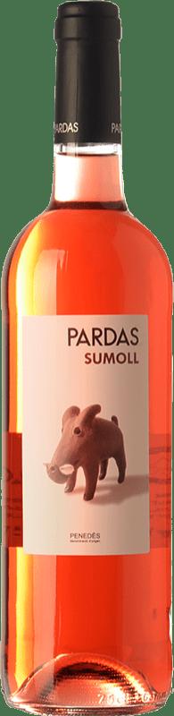 11,95 € Free Shipping | Rosé wine Pardas Rosat D.O. Penedès Catalonia Spain Sumoll Bottle 75 cl