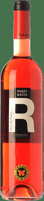 6,95 € Free Shipping | Rosé wine Parés Baltà Ros de Pacs D.O. Penedès Catalonia Spain Merlot, Cabernet Sauvignon Bottle 75 cl