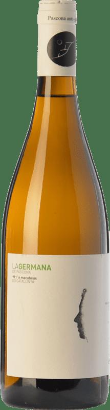8,95 € Free Shipping | White wine Pascona La Germana Crianza D.O. Montsant Catalonia Spain Macabeo, Muscatel Small Grain Bottle 75 cl