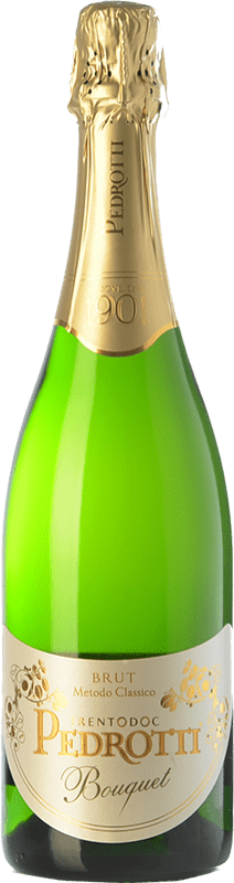 25,95 € Free Shipping | White sparkling Pedrotti Bouquet Brut D.O.C. Trento Trentino Italy Chardonnay Bottle 75 cl