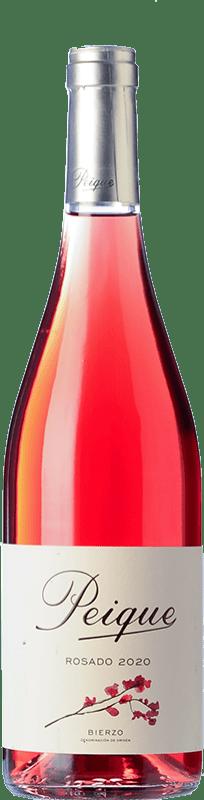 6,95 € Free Shipping | Rosé wine Peique sobre Lías D.O. Bierzo Castilla y León Spain Mencía Bottle 75 cl