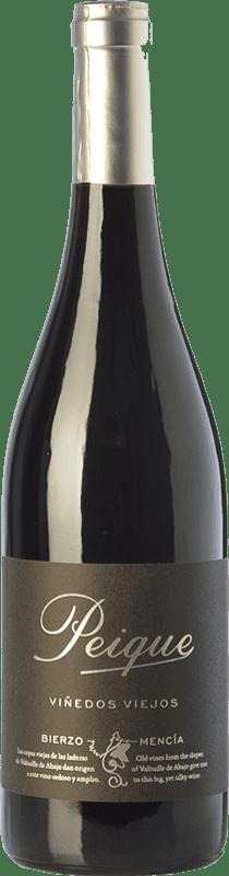 16,95 € Free Shipping | Red wine Peique Viñedos Viejos Crianza D.O. Bierzo Castilla y León Spain Mencía Bottle 75 cl