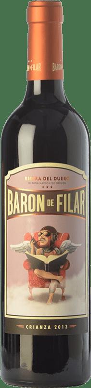 15,95 € Envoi gratuit | Vin rouge Peñafiel Barón de Filar Crianza D.O. Ribera del Duero Castille et Leon Espagne Tempranillo, Merlot, Cabernet Sauvignon Bouteille 75 cl