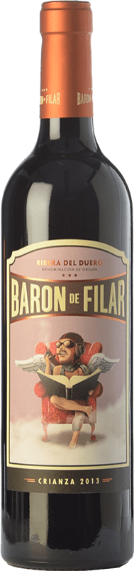 15,95 € Envío gratis | Vino tinto Peñafiel Barón de Filar Crianza D.O. Ribera del Duero Castilla y León España Tempranillo, Merlot, Cabernet Sauvignon Botella 75 cl