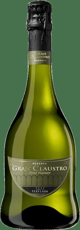16,95 € Envio grátis | Espumante branco Perelada Gran Claustro Brut Nature Reserva D.O. Cava Catalunha Espanha Pinot Preto, Chardonnay, Parellada Garrafa 75 cl