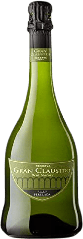 16,95 € Free Shipping | White sparkling Perelada Gran Claustro Brut Nature Reserva D.O. Cava Catalonia Spain Pinot Black, Chardonnay, Parellada Bottle 75 cl