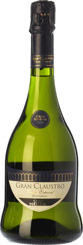 16,95 € Free Shipping | White sparkling Perelada Gran Claustro Cuvée Especial Brut Nature Gran Reserva 2011 D.O. Cava Catalonia Spain Xarel·lo, Chardonnay, Parellada Bottle 75 cl. | Thousands of wine lovers trust us to get the best price guarantee, free shipping always and hassle-free shopping and returns.