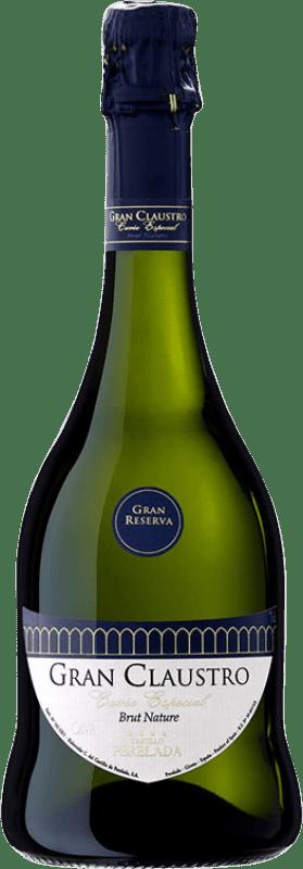 16,95 € Free Shipping | White sparkling Perelada Gran Claustro Cuvée Especial Brut Nature Gran Reserva D.O. Cava Catalonia Spain Xarel·lo, Chardonnay, Parellada Bottle 75 cl
