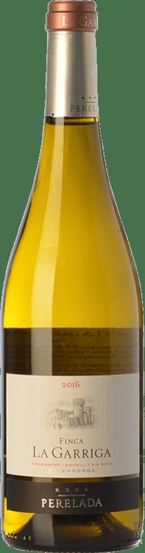 17,95 € Free Shipping | White wine Perelada Finca La Garriga Blanc Crianza D.O. Empordà Catalonia Spain Samsó, Chardonnay Bottle 75 cl