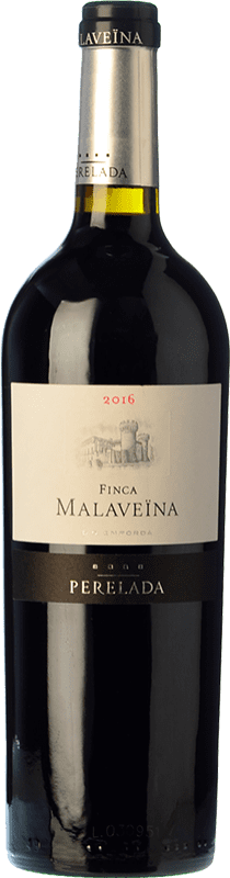 91,95 € Free Shipping | Red wine Perelada Finca Malaveïna Crianza 2010 D.O. Empordà Catalonia Spain Merlot, Cabernet Sauvignon, Cabernet Franc Jeroboam Bottle-Double Magnum 3 L