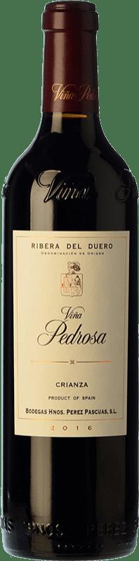 48,95 € Envío gratis | Vino tinto Pérez Pascuas Viña Pedrosa Crianza D.O. Ribera del Duero Castilla y León España Tempranillo Botella Mágnum 1,5 L