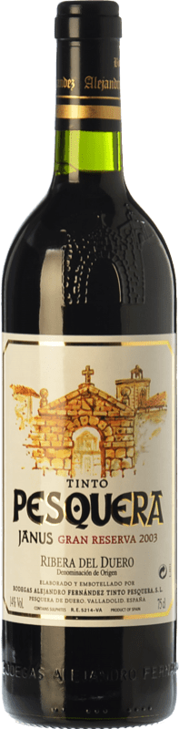 87,95 € Envío gratis | Vino tinto Pesquera Janus Gran Reserva 2003 D.O. Ribera del Duero Castilla y León España Tempranillo Botella 75 cl