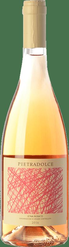 13,95 € Envío gratis | Vino rosado Pietradolce Rosato D.O.C. Etna Sicilia Italia Nerello Mascalese Botella 75 cl