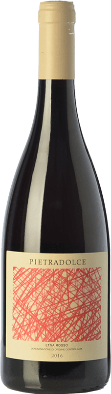 18,95 € Free Shipping | Red wine Pietradolce Rosso D.O.C. Etna Sicily Italy Nerello Mascalese Bottle 75 cl