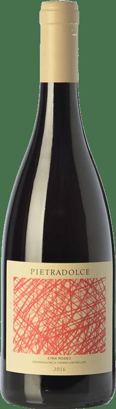 18,95 € Envío gratis | Vino tinto Pietradolce Rosso D.O.C. Etna Sicilia Italia Nerello Mascalese Botella 75 cl