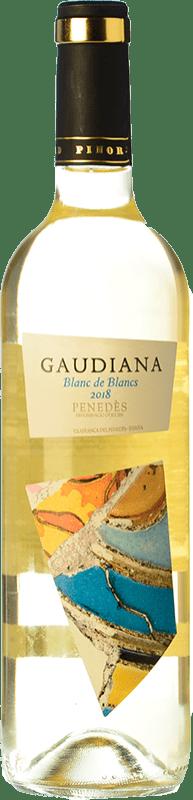 4,95 € Free Shipping | White wine Pinord Gaudiana Blanc de Blancs Joven D.O. Penedès Catalonia Spain Muscatel, Macabeo, Xarel·lo, Parellada Bottle 75 cl