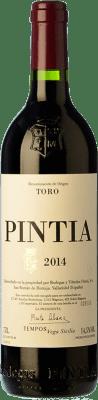 128,95 € Envío gratis | Vino tinto Pintia Crianza D.O. Toro Castilla y León España Tinta de Toro Botella Mágnum 1,5 L