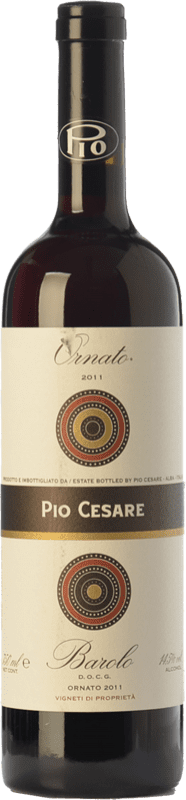 89,95 € Envío gratis | Vino tinto Pio Cesare Ornato D.O.C.G. Barolo Piemonte Italia Nebbiolo Botella 75 cl