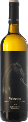 8,95 € Envoi gratuit | Vin blanc Pirineos D.O. Somontano Aragon Espagne Chardonnay, Sauvignon Blanc, Gewürztraminer Bouteille 75 cl